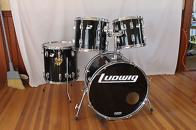 "Vintage early 80's Ludwig Rocker Kit. 4 Ply maple. ""Made in U.S.A."".22,12,13,16"