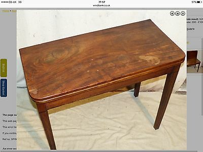 Mahogany Antique Tea Table Folding Square 19 C Tapered Legs
