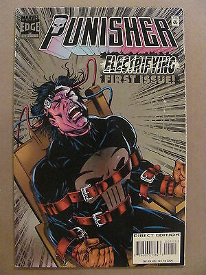 Punisher #1 Marvel Edge Comics 1995 Series Foil Cover 9.2 Near Mint-