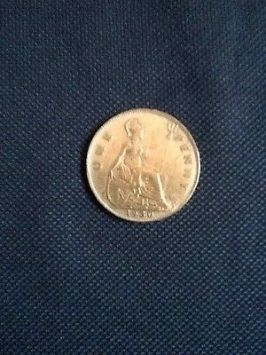 1930 King George V - One Penny British Coin