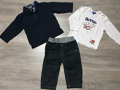 Ensemble Lot 3 Pieces Grain De Blé Jean T Shirt Et Polo 12 Mois 1 An