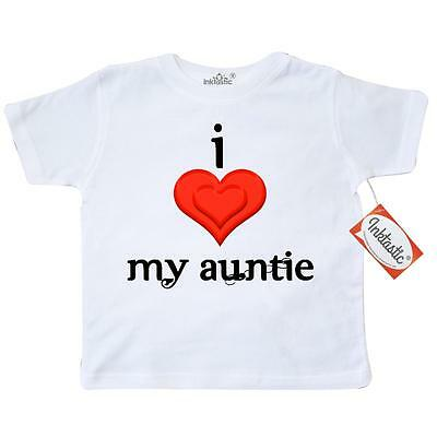 Inktastic I Love My Auntie Toddler T-Shirt Aunt Gift Baby Tees. Child Kid