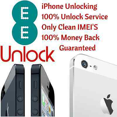 EE Network UK iPhone 4S 5 5S 5C 6 6+ 6S 6S+ 7+ Official Factory Unlock Service