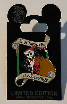 Disney Pin DLR A Scary Christmas and to All a Good Fright Jack Pin Le500