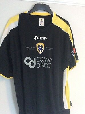 Cardiff City Fc Fa Cup Final Shirt 2008 - Size L Large Joma - Black - Rare
