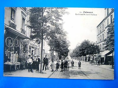Cpa  Puteaux-Boulevard Richard Wallace-Magasin-Animee