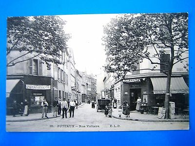 Cpa  Puteaux-Rue Voltaire-Animee