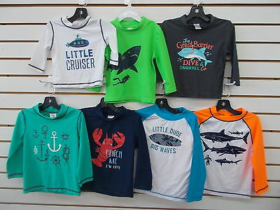 Infant & ToddlerBoys Carter's Assorted Long Sleeved Swim Shirts Size 6/9m - 3T