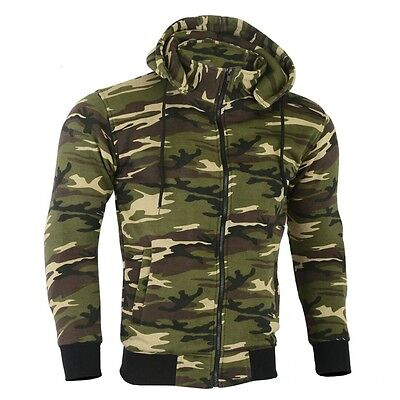 Motorbike Motorcycle Fleece Made with Kevlar Hoodie Camo Removable Armoured CE