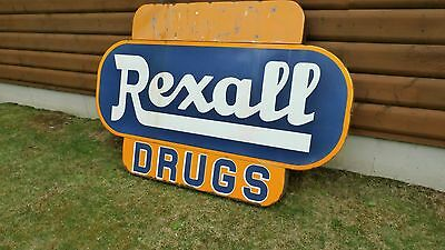 Vintage HUGE Rexall Drug Sign from the 40's