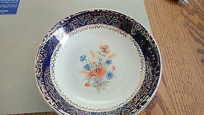 Vintage 23 Karat Gold  Century by Salem Blue China many pieces full set of 6 +