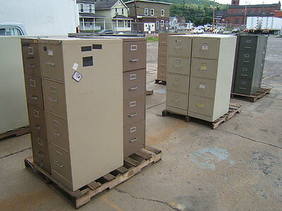 Lot of 18 4-drawer File Cabinets Hon Cole Legal Letter
