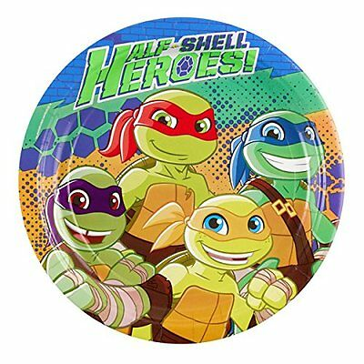 Amscan International 9901312 23 cm Half Shell Heroes piatto di carta (Y8v)
