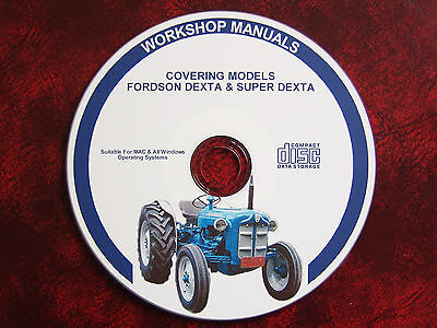Fordson Dexta & Super Dexta Tractor Workshop Service Repair Manual