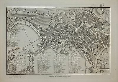 A Plan Of The City Of Naples By John Stockdale, 1800.