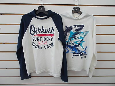 Boys OshKosh B'gosh Long Sleeved Swim Shirts Size 5 - 10