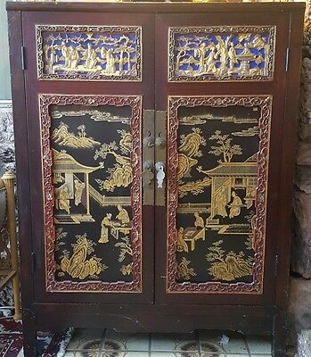 Antique Chinese Two Door Cabinet
