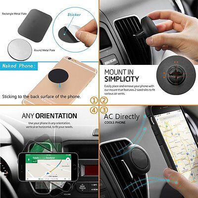 Universal Mobile Cell Phone GPS Air Vent Magnetic Stand Car Mount Holder