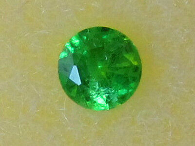 John & Laura Ramsey Gemstones Grossular Garnet Rnd. .11Ct 1Pc For 3Mm Mtg. Loose