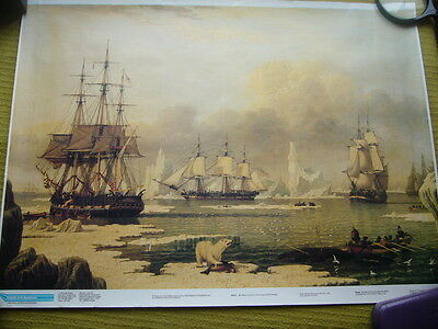 Vintage Reproduction 'Whaling In The Artic'  - John Ward VGC