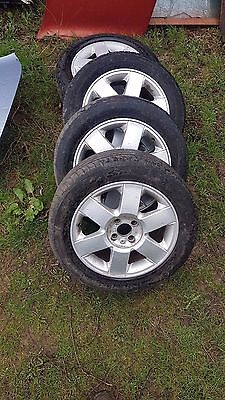 Renault Megane Mk2 4 X 16 Inch Wheels And Tyres With Caps 8200022038 And Lock