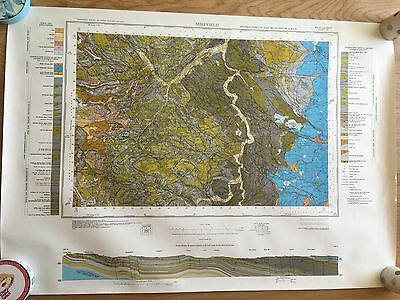 SHEFFIELD Geological Survey Map Sheet 100 solid and drift