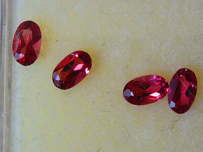 John & Laura Ramsey Gemstones Rhodolite Garnet 5X3Mm Oval 1.04Ct 4Pc Loose