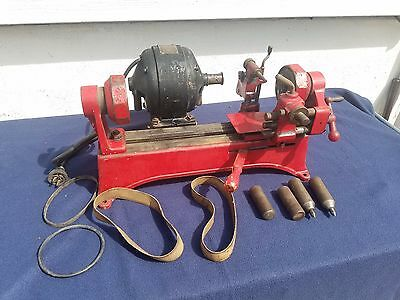 Vintage Trucut Armature Lathe & Undercutter Model B10 W/Belts and Center Points