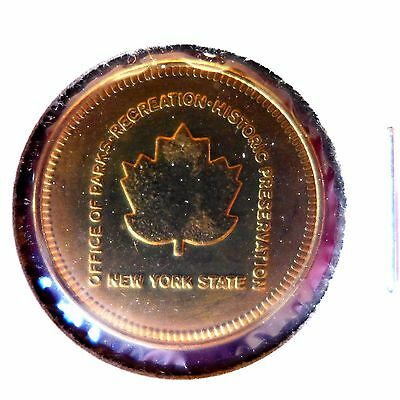 TOKEN  Historic New York State Office Of Parks-Recreation 1885-1985 Unc.!