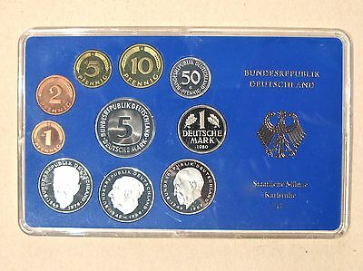 1980 G Germany Proof Coin Set Staatliche Munze Karlsruhe