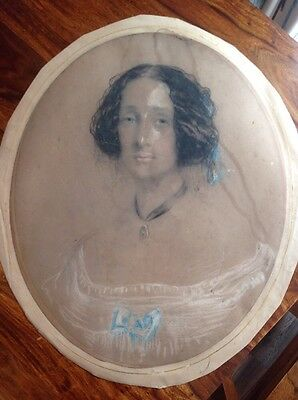 Original Drawing Dated 1855, Signed And Inscribed On The Reverse