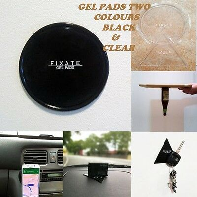 Premium 2 Fixate Gel Pads Anti-Slip Sticky Gel Pads  Washable  Gps Phones