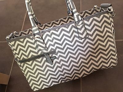 Melobaby Melotote Nappy Changing Baby Bag (Chevron Grey) - Like New Condition