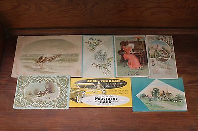 Vintage Lot of 7 Advertising Blotters and Trade Cards/Late 1800's