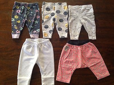 Baby Girls Winter Tights Pants Bundle Size 00 3-6 Months Bonds Gap Cotton On