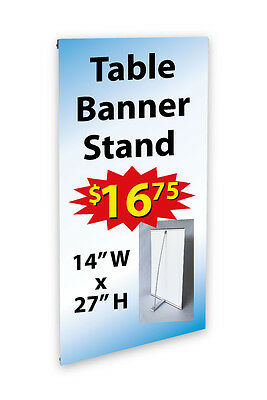 "Counter Top Mini Banner Stand 14"" X 27"" -Hardware Only-"