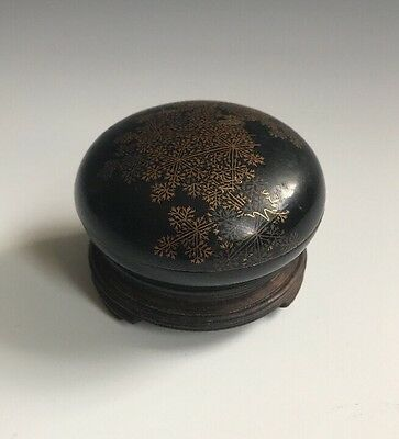 A Meiji/Taisho Era Japanese Lacquered Signed Kogo Box & Cover
