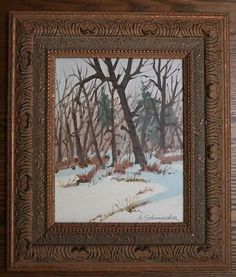 """Oil on canvas board painting, 10x8"""", Canadian artistsigned  , 1975"""