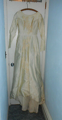 Vintage  1930S Wedding Dress Union Made Small