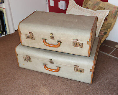 Suitcase Trunk Large Antique Coffee Table Storage  MATCHING SUITCASE LISTED TOO!