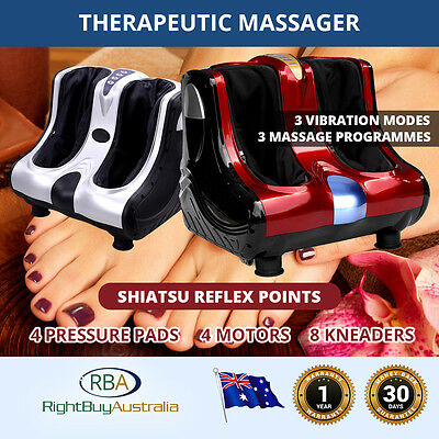 NEW Electric Massager Shiatsu Foot, Ankle and Leg 4 Motors 8 Kneaders 4 Pressure