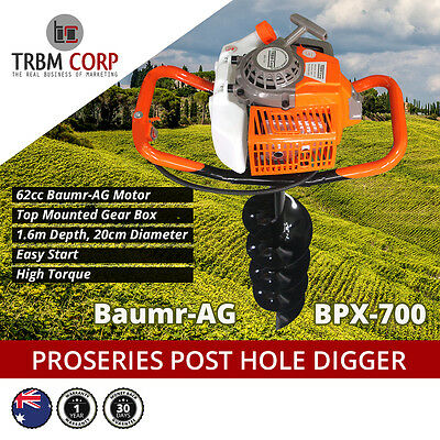 Post Hole Digger Industrial Fence Post Hole Borer Baumr-AG 4.1HP, 1.6M X 20cms