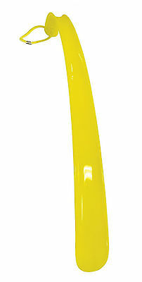 Aidapt Yellow Plastic Shoehorn Plastic Handle with Grooves Improved Grip
