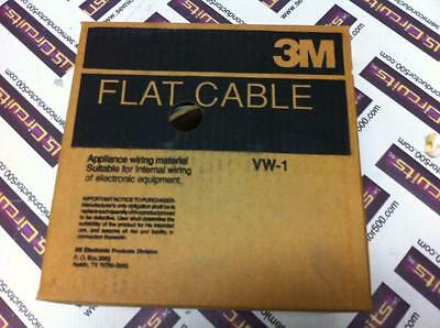 3M flat ribbon cable grey 100C 100 conductor 3749/100 - NEW 100ft 30Awg Solid