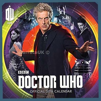 NEW Official Doctor Who 2016 Square Wall Calendar (BBC Dr Who)