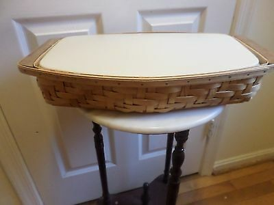 Longaberger   Heartwood Serving Tray Basket With 2Pc Protector