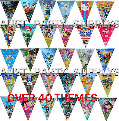 Themed Flag Banner Triangle Bunting Birthday Party Supplies Wall Decoration -1Pk