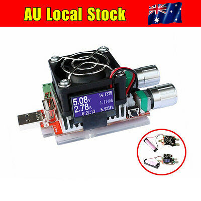 35W USB Electronic Load Constant Current Battery Discharge Capacity Tester LED