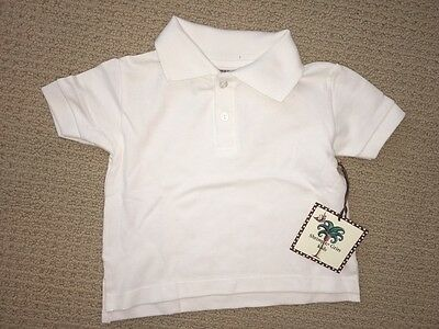 NWT White pique polo shirt by Shrimp & Grits Size XS (2T-3T)