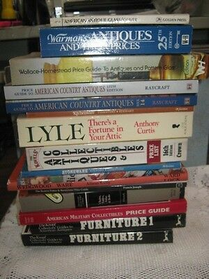 Lot of 16 ANTIQUE PRICE GUIDES Collector's Warmans Kovels Knopf Raycraft BOOKS